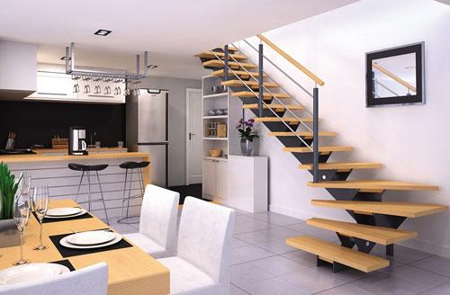 Les escaliers en métal