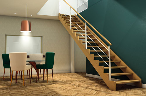 Les escaliers mixtes